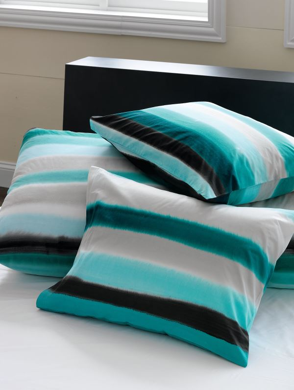 Striped bed linens