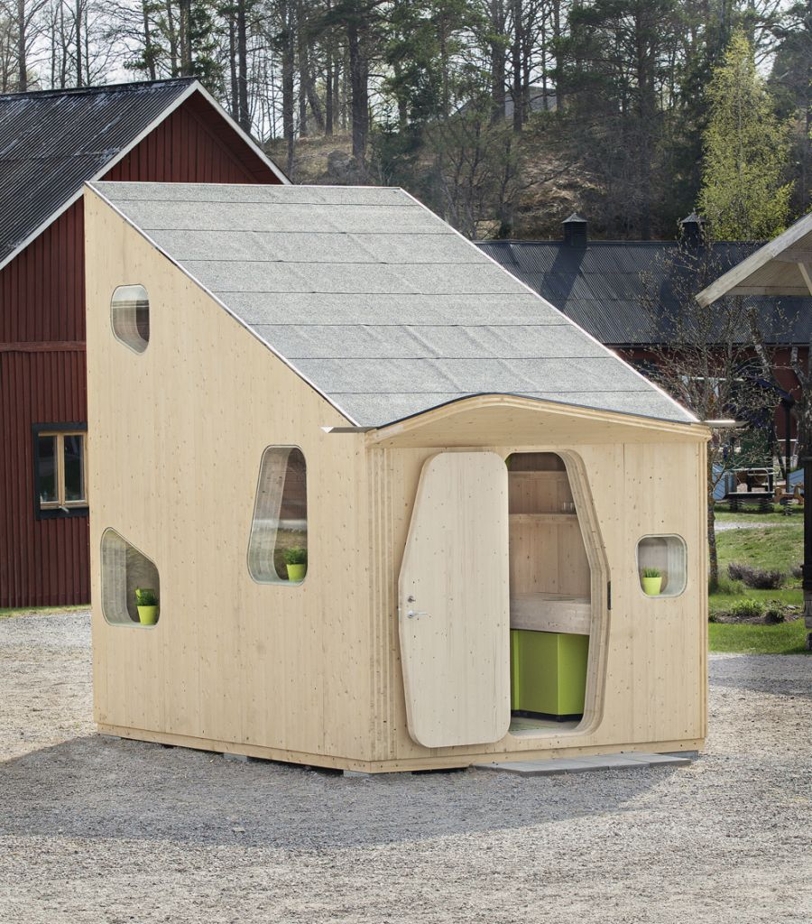 Student housing unit on display at Virserum Art Museum