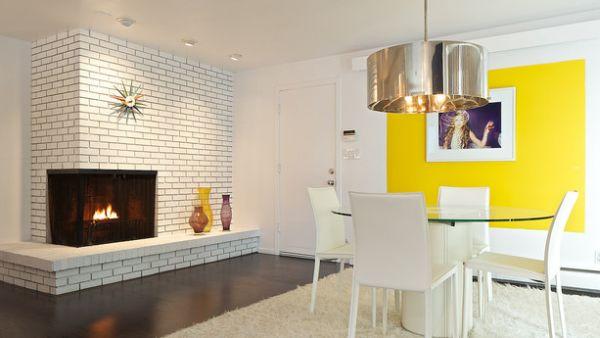 Stylish Sunburst Clock above the fireplace