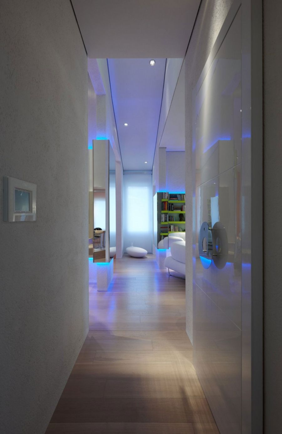 Stylish entranceway leading into the living room