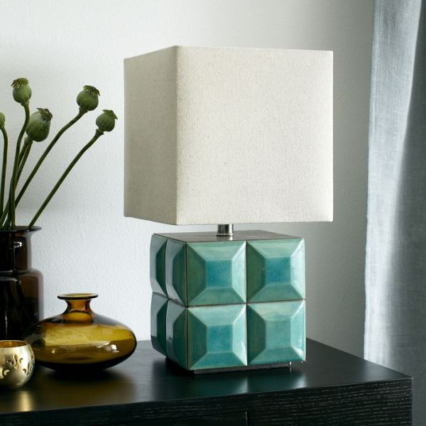 Tiled faceted lamp by Lubna Chowdhary