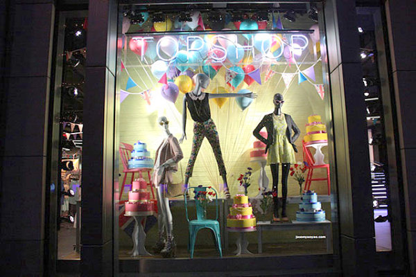 Topshop window display