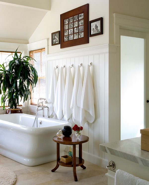 View In Gallery Use Hooks Instead Of The Monotonous Towel Rails