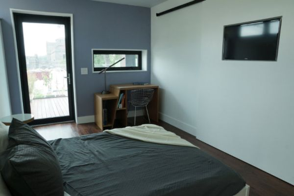 View inside the bedroom of the harvest home