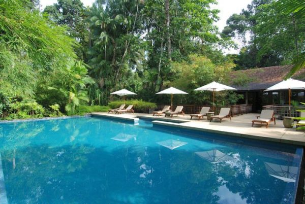 View of the Pool Suite Terrace at the Datai Langkawi, Borneo