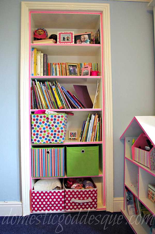 Organize your space with diy bookshelves for Diy cassette shelf