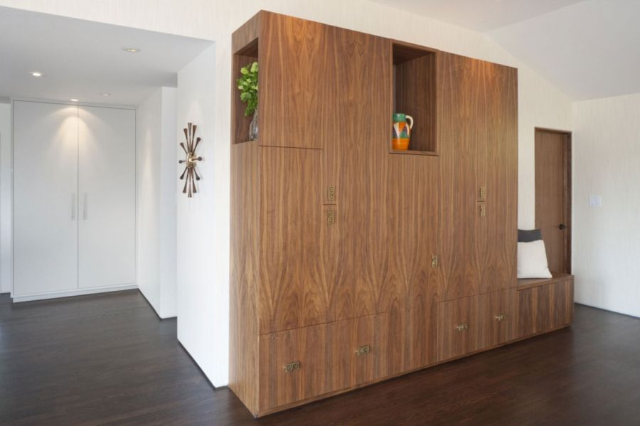 Wooden cabinets inside Moraga Residence by jennifer weiss architecture