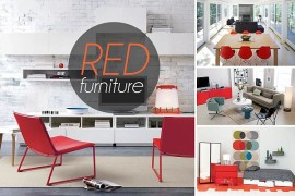 bold red furniture