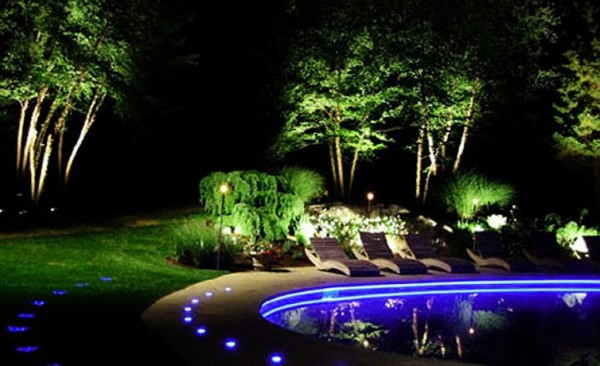 unique garden and pool lighting