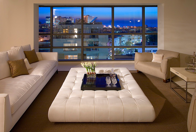 View In Gallery Large Leather Ottoman Living Room Coffee Table