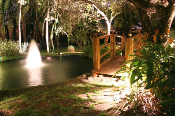 garden lighting design ideas. view in gallery water fountain and bridge with garden lighting design ideas