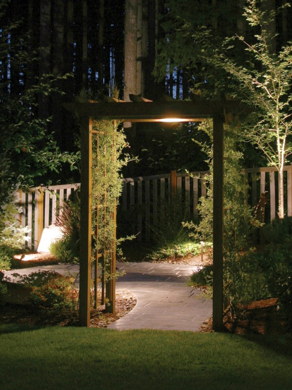 pergola and garden lighting
