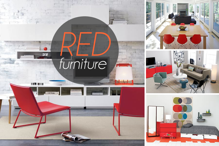 red furniture finds Visions of Scarlet: Bold Red Furniture Finds
