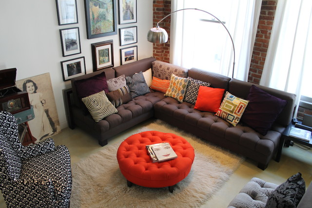 round orange ottoman The Subtle Charm of Ottomans For a Plus of Comfyness