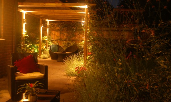 Angela Garden in Ascot uses peripheral lighting from seating area