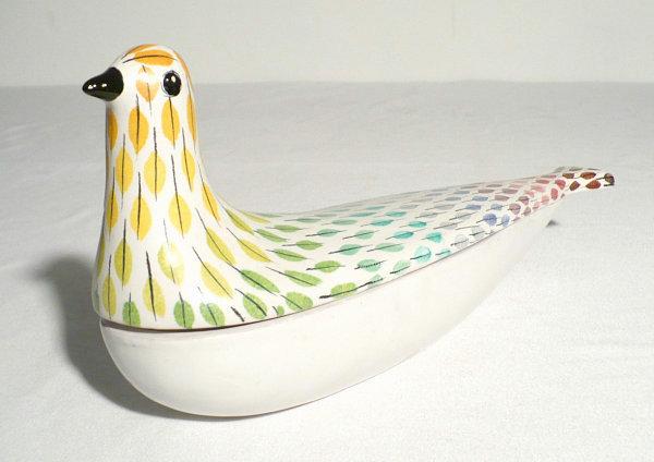 1950s Italian pottery bird