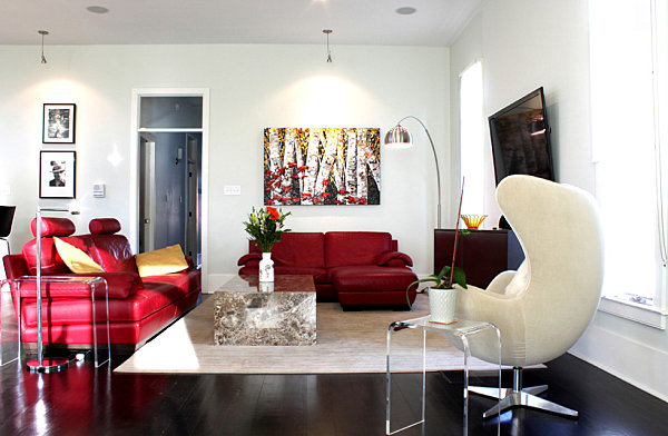 A touch of fall color in a modern interior