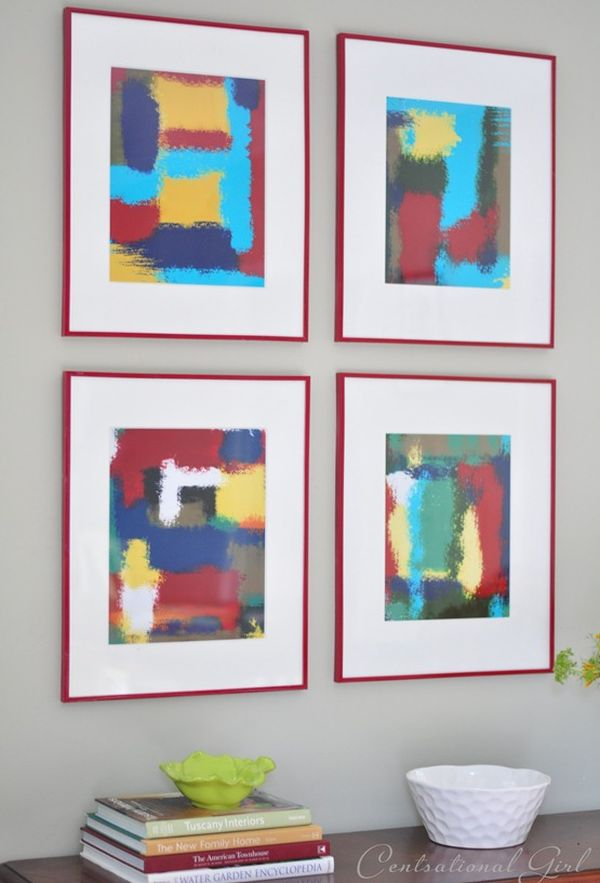 Abstract wall art frames