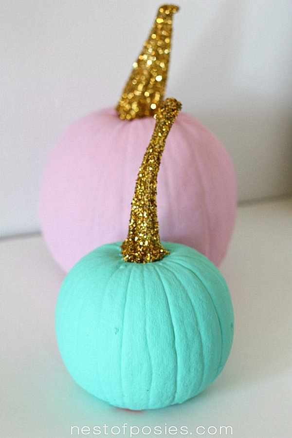 Acrylic paint pumpkins