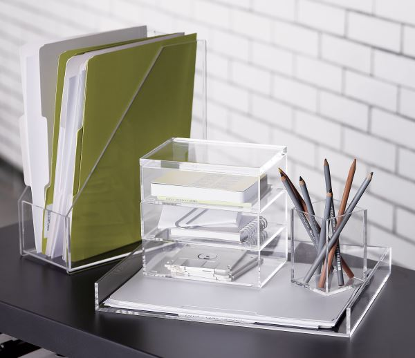 Acrylic stacking boxes