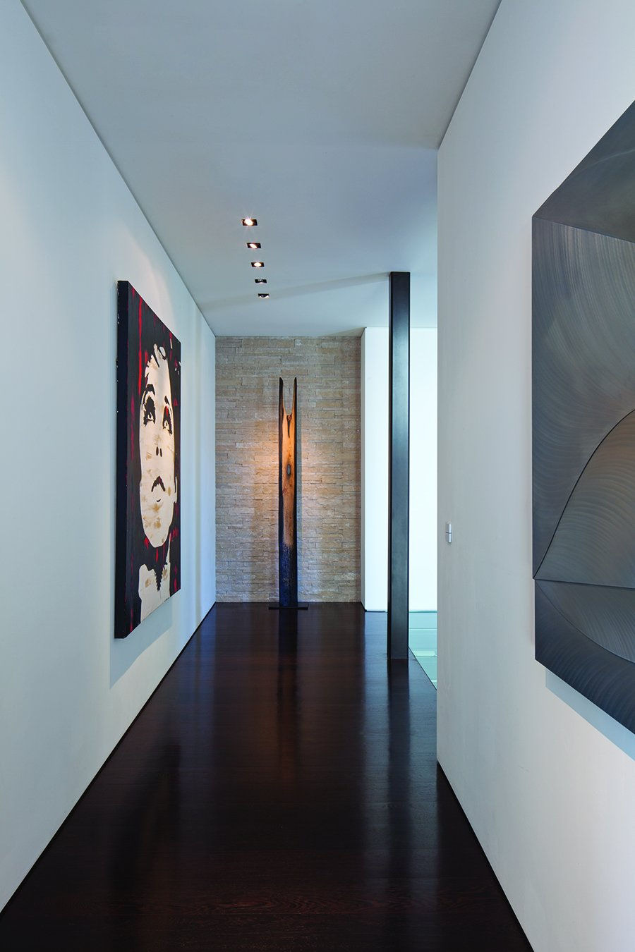 Art gallery styled corridor
