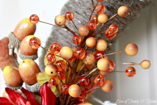 Autumn harvest wreath DIY