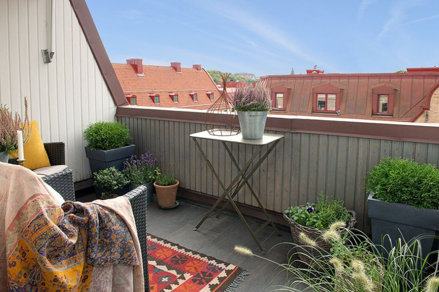 Balcony with a view of Gothenburg