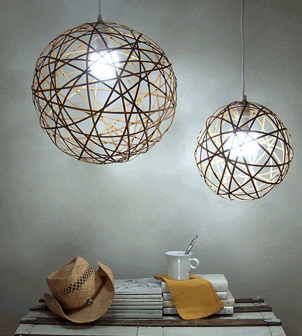 View in gallery bamboo orb pendant light
