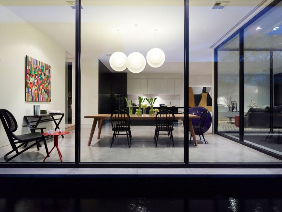 Beautifully lit interiors of Melbourne Residence