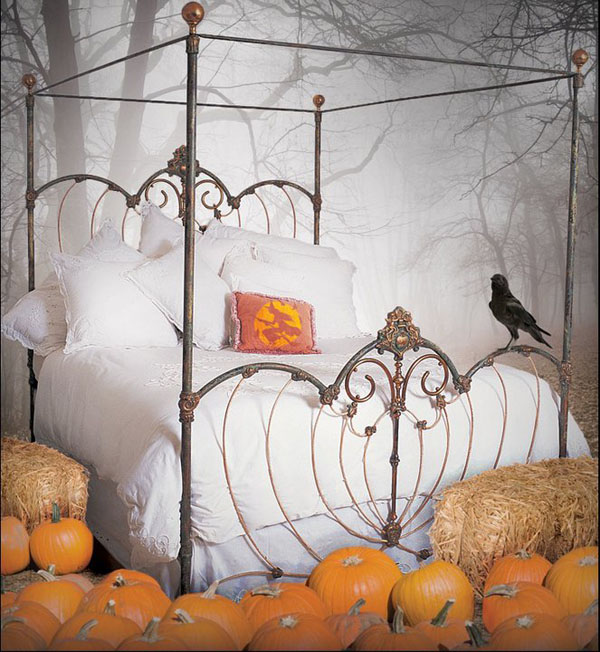 Bedrooms that seem designed for Halloween 1 13 Dark Bedrooms With A Subtle Halloween Vibe