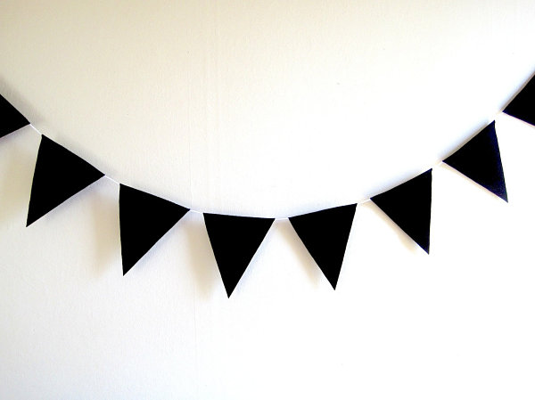 Black bunting banner