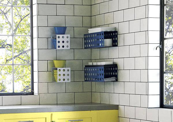 Blue dotted shelf
