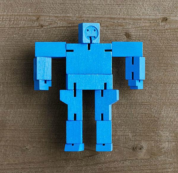 Blue robot puzzle