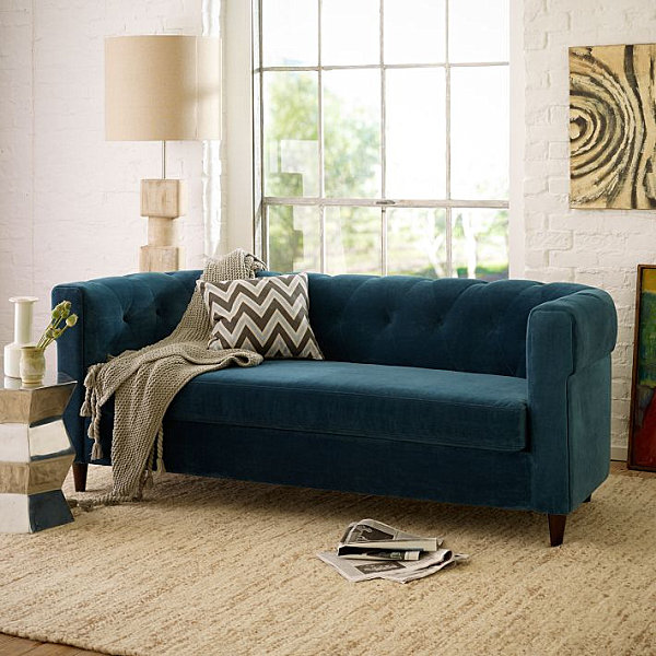 Sea Blue Couch Living Room