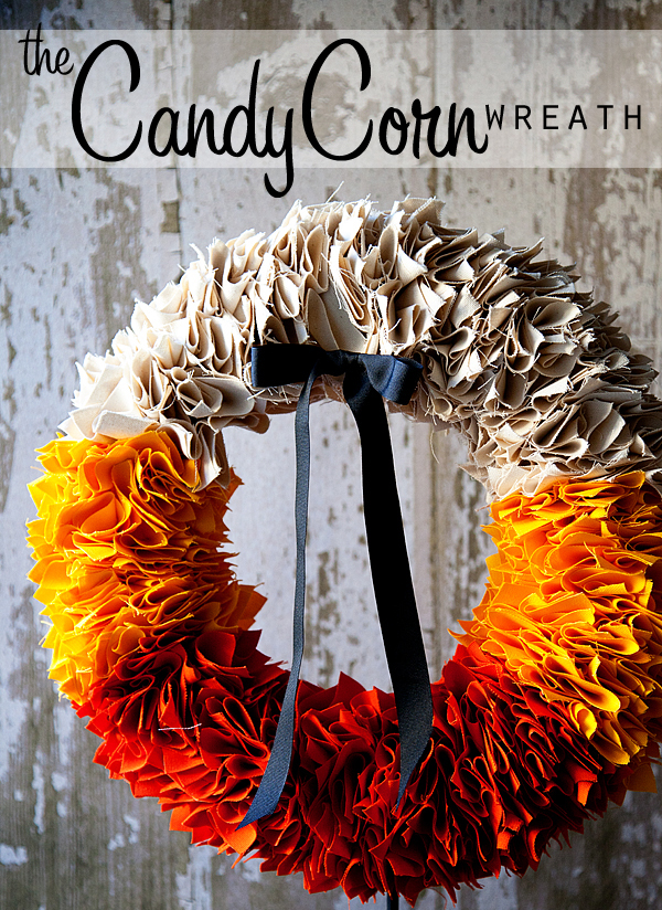 Bright and Colorful Candy Corn Wreath DIY