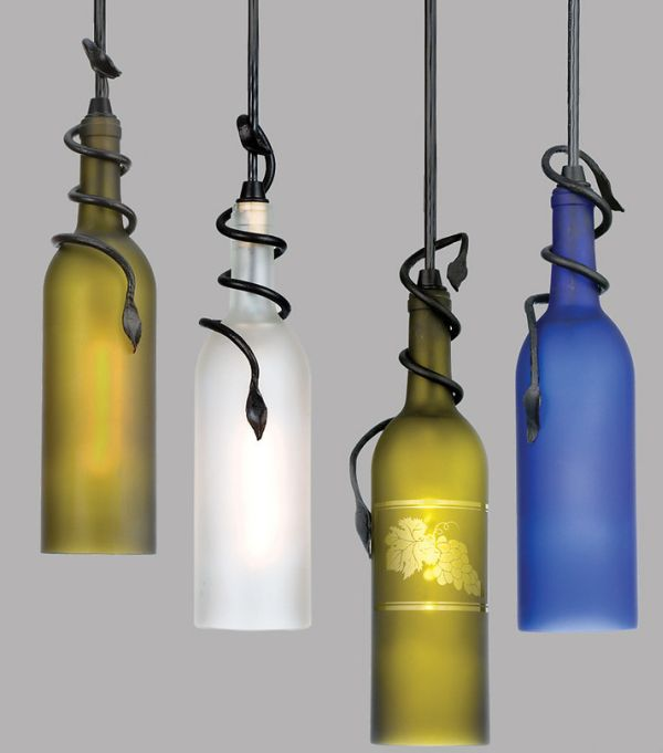 50 coolest diy pendant lights - Wine bottle pendant light ...