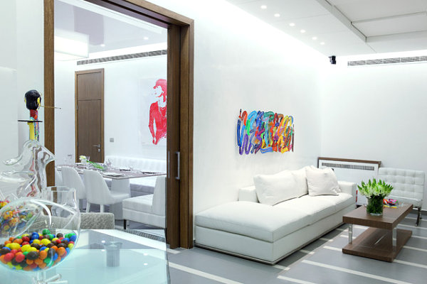 Candy colors in a contemporary living space