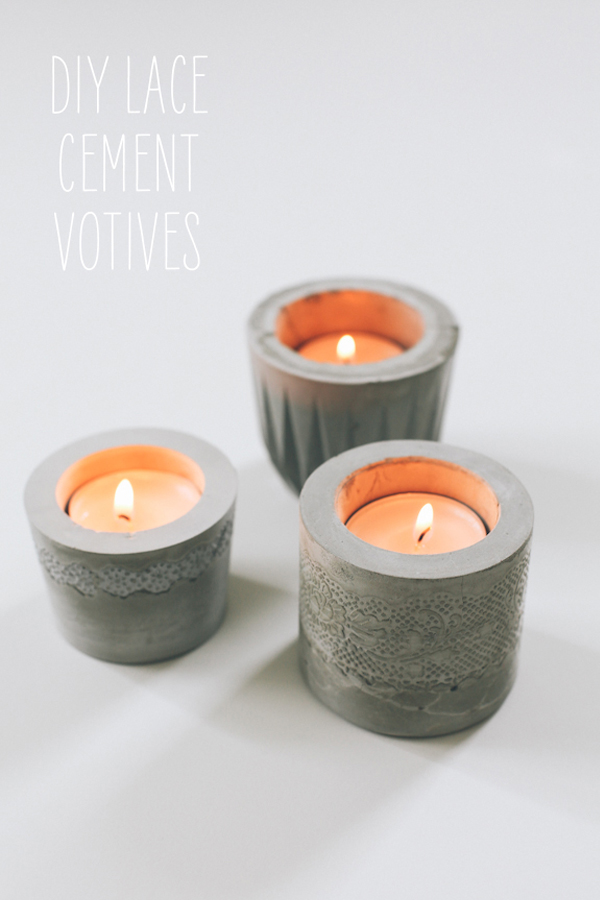 Cement candle votives