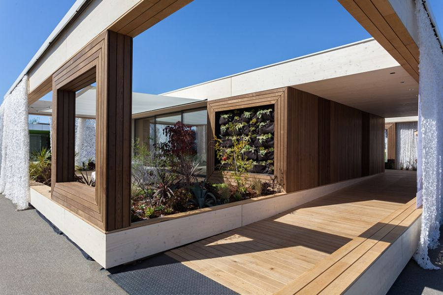 Central garden area of LISI House by Team Austria