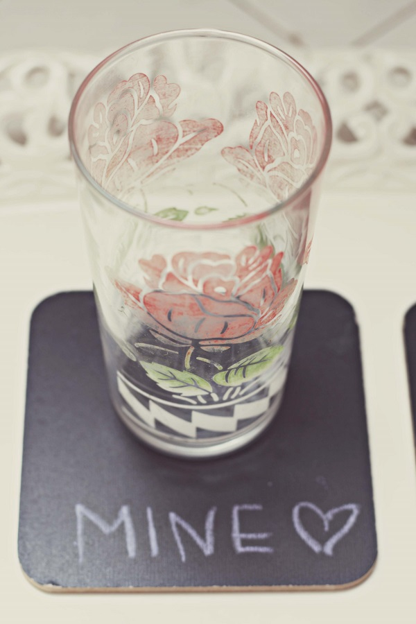 Chalkboard coaster set DIY