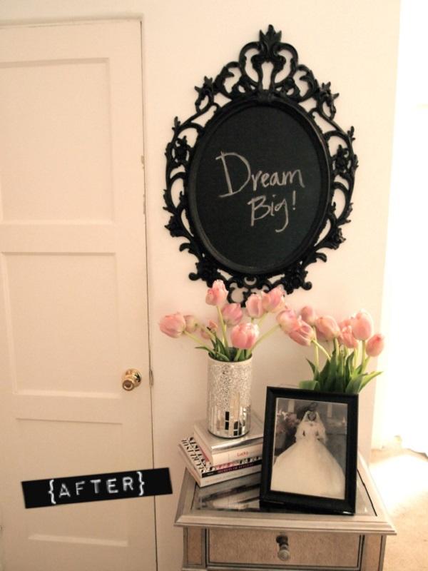 Chalkboard mirror DIY