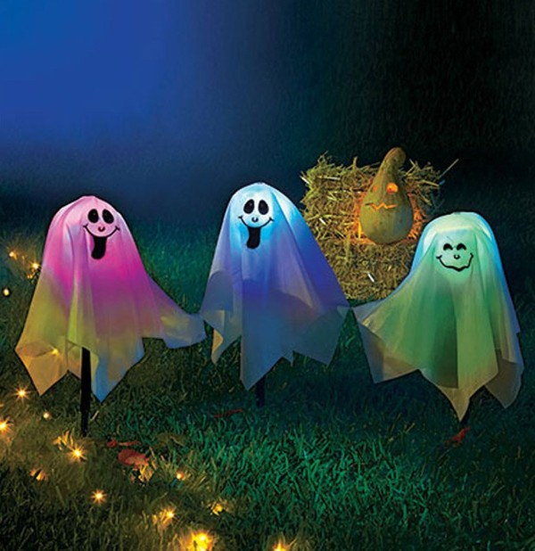 Changing LED Halloween Happy Ghost Lights