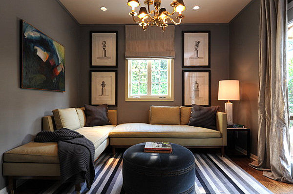 18 cozy rooms with modern style for Den living room designs