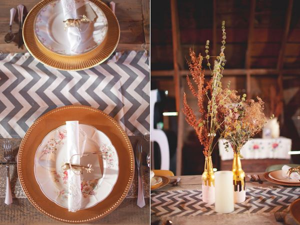 Chic rustic fall table setting