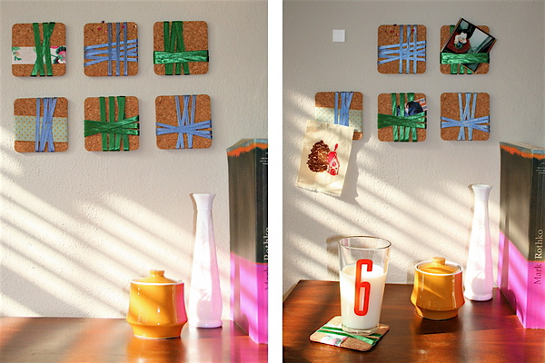 Coaster wall art inspiration DIY