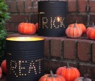 Coffee can tin lanterns