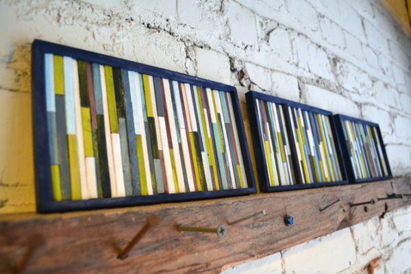 Coffee stirrer wall art DIY