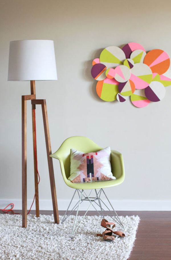 Wall Decoration with Colour Paper