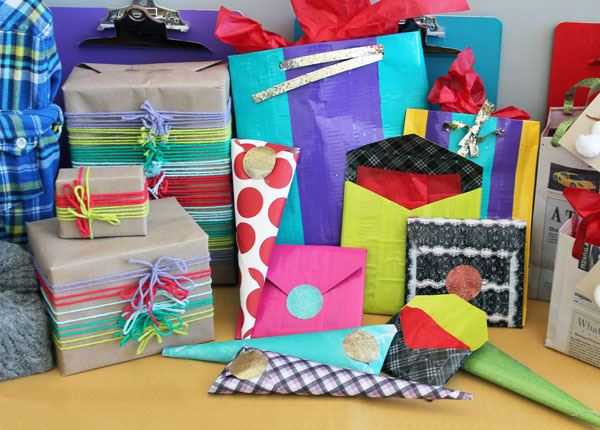 Colorful gift wrap ideas 10 Gift Wrap Ideas for Design Lovers