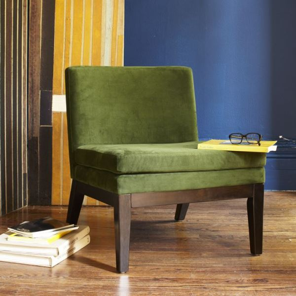 Comfy olive green chair
